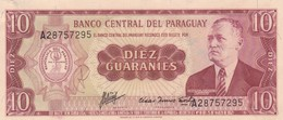 DIEZ GUARANIES GENERAL EUGENIO A.GARAY. PARAGUAY. CIRCA 1960s-BILLETE BANKNOTE BILLET-BLEUP - Paraguay