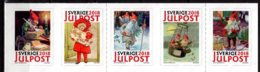 2018 Sweden - Christmas Post - Old Posters - 1 Set S.adhesive MNH** - Suède
