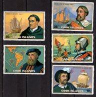 1975 Cook Islands - Pacific Ocean Explorers From Europe MNH** MiNr. 448 - 452 (hj) Vasco De Balboa, Legazpi, Magelan - Cook Islands