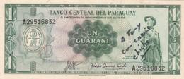 UN GUARANI, SOLDADO PARAGUAYO. PARAGUAY. CIRCA 1950s-BILLETE BANKNOTE BILLET-BLEUP - Paraguay