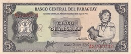 UN GUARANI, LA MUJER PARAGUAYA. PARAGUAY. CIRCA 1950s-BILLETE BANKNOTE BILLET-BLEUP - Paraguay