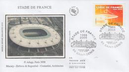 Enveloppe  FDC   1er  Jour   Stade  De  FRANCE     SAINT - DENIS    2008 - FDC