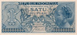 INDONESIA 1 RUPIAH  1956 P-74 UNC - Indonesia
