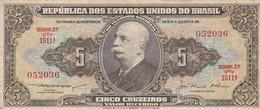 CINCO CRUZEIROS, BARAO DO RIO BRANCO. CIRCA 1960s-BILLETE BANKNOTE BILLET-BLEUP - Brazil