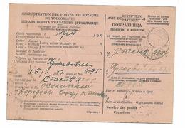 UPU Post And Telegraf RETURNE From Kraljevicevo 1947 - Post Card KONGDOM YUGOSLAVIJA 1940 - Non Classificati