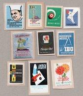 10 Verschiedene  Vignetten / Werbemarken 50 Und 60ziger Jahre - Vignetten (Erinnophilie)