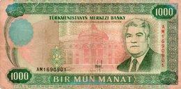 TURKMENISTAN 1000 MANAT 1995 P-8 - Turkménistan