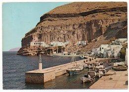 GREECE/GRECE/GRECIA - SANTORINI / PHIRA THE LANDING PLACE / SHIPS / THEMATIC STAMP-FLOWERS - Grecia