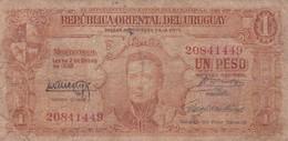 UN PESO. URUGUAY. CIRCA 1940s-BILLETE BANKNOTE BILLET-BLEUP - Uruguay