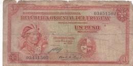 UN PESO. URUGUAY. CIRCA 1930s-BILLETE BANKNOTE BILLET-BLEUP - Uruguay