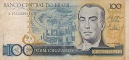 CEM CRUZADOS SERIE A, JUSCELINO KUBITSCHEK. BRASIL. CIRCA 1990s-BILLETE BANKNOTE BILLET-BLEUP - Brazil