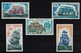 Grands Voiliers Français - 5 Tp NEUFS Sans Charnières (n°1674 - 1717 - 1762 - 1862 - 1913) - Unused Stamps