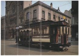 "Tematica - Tram - Bruxelles - La ""California"", Voiture Mixte N° 346  - Not Used - Tramways"