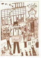 BRUXELLES - BRUSSEL - Ilot Sacré - Rue Des Bouchers.  Dessin Alice Galloy. - Cafés, Hôtels, Restaurants