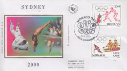 Enveloppe  FDC  1er   Jour   MONACO   Jeux  Olympiques  De   SYDNEY   2000 - Ete 2000: Sydney
