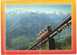 Tematica - Funicolari - 1994 - 100 Unisource + Flamme - Niesen - Niesen-Bahn, Blunmlisalp, Doldenhorn, Balmhorn  - Viagg - Funicular Railway
