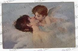 1919 - Angelo Angel Innamorati Donna Ragazza Girl Arte Pittura Illustratore - PIEGA Vedi Retro - Angeli