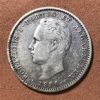 D.LUIZ I (1861-1889) - 200 RÉIS PRATA - 1886. - Portugal