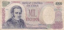 MIL ESCUDOS. CHILE. CIRCA 1970s-BILLETE BANKNOTE BILLET-BLEUP - Chili
