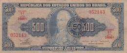 QUINHENTOS CRUZEIROS. P JOAO VI-50 CENTAVOS-. BRASIL. CIRCA 1950s-BILLETE BANKNOTE BILLET NOTA-BLEUP - Brazil