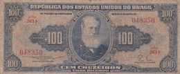 CEM CRUZEIROS-D PEDROII. BRASIL. CIRCA 1940s-BILLETE BANKNOTE BILLET NOTA-BLEUP - Brazil