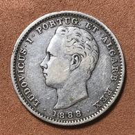 D.LUIZ I (1861-1889) - 200 RÉIS PRATA - 1888 - Portugal