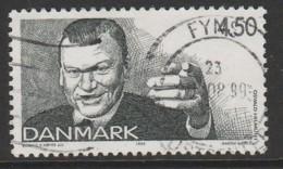 Denmark 1999 Famous Danish Comedians 4.50 Kr Blue SW 1218 O Used - Denemarken
