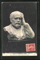 AK Emile Zola Par Derre, Buste Fondu Avec La Cloche De L'eglise De Suresnes - Ecrivains