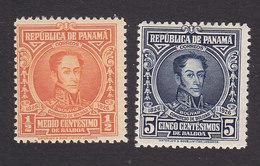 Panama, Scott #244, 248, Mint Hinged, Bolivar, Issued 1926 - Panama