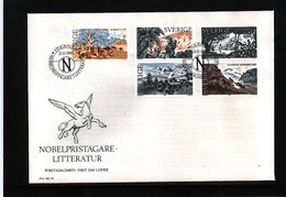 Sweden 1985 Nobel Prize Laureats - Literature FDC - Nobel Prize Laureates