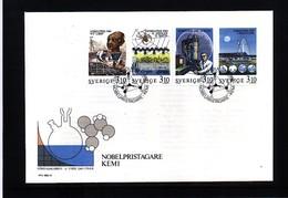 Sweden 1988 Nobel Prize Laureats - Chemistry FDC - Nobel Prize Laureates