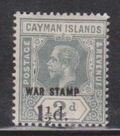 CAYMAN ISLANDS Scott # MR7 MH - War Stamp Overprint & Surcharge - Cayman Islands