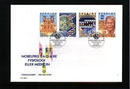 Sweden 1989 Nobel Prize Laureats - Medicine FDC - Nobel Prize Laureates
