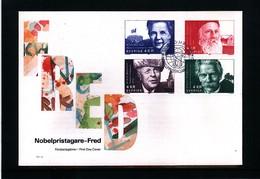 Sweden 1991 Nobel Prize Laureats - Peace FDC - Nobel Prize Laureates