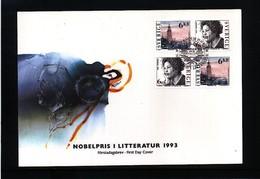 Sweden 1993 Nobel Prize Laureats - Literature FDC - Nobel Prize Laureates