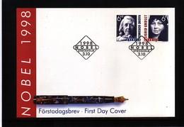 Sweden 1998 Nobel Prize Laureats - Literature FDC - Nobel Prize Laureates