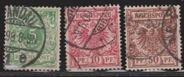 GERMANY Scott # 47, 48, 51 Used - Germany