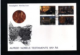 Sweden 1995 100 Years Of Nobel Prize FDC - Nobel Prize Laureates