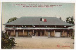 CONGO -- BRAZZAVILLE - Le Palais épiscopal ,le Lendemain Du Sacre .....carte Colorisée.............. à Saisir - Brazzaville
