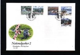 Sweden 1990 Nationalparks FDC - Umweltschutz Und Klima