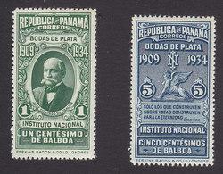 Panama, Scott #268, 270, Mint Hinged, Jose Domingo De Obaldia, Emerson, Issued 1934 - Panama