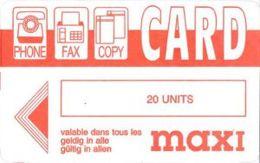 COPYCARD : GB3-020 20 UNITS   PHONE FAX COPYCARD Maxi USED - A Identifier