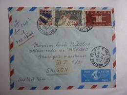 Erinnophilie   VERS Navire MEKONG Messageries Maritimes  SAIGON Viet-Nam   Flamme PAR AVION Nov 2018 Alb 5 - 1961-....
