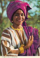 NIGERIA - 1981 - Cartolina Viaggiata  Riproducente Donna Nigeriana In Costume Tradizionale, Affrancata Con Yvert 291. - Nigeria