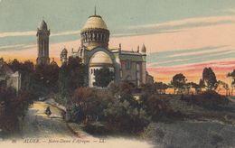 ALGERIA - 1914 - Cartolina Viaggiata Con Riproduzione Artistica Della Chiesa Di Notre Dame D'Afrique - Algeri