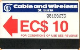 "Saint Lucia - LC-C&W-AUT-0001A,  Autelca, Logo (With Small ""I""), 10 EC$, 50.000ex, 1985, Used - St. Lucia"