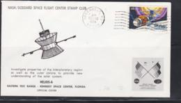 SPACE - USA - 1974- HELIOS A  ILLUSTRATED  COVER WITH  GREENBELT   DEC 10   POSTMARK - Covers & Documents