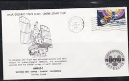SPACE - USA - 1975 - NIMBUS F   ILLUSTRATED  COVER WITH  GREENBELT   JUN 12 1975    POSTMARK - Covers & Documents