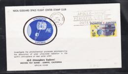 SPACE - USA - 1975 - AE -D ATMOSPHERE EXPLORER ILLUSTRATED COVER  WITH GREENBELT  OCT 6 1975 POSTMARK - Covers & Documents