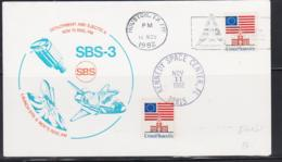 SPACE - USA - 1982 - SBS 3 COVER KENNEDY AND   HOUSTON  NOV 11 1982   POSTMARK - Covers & Documents